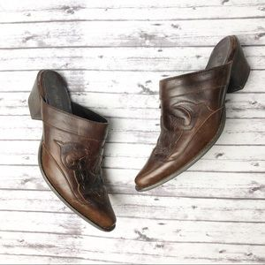 Road Wolf Western Leather Booties Shooties Mules 7
